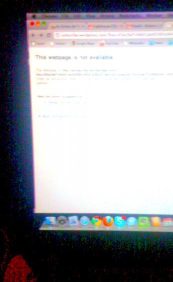 Screen in the dark